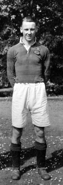 Ralph O'Donnell in the summer of 1948.  Grammar School Rugby 1st XV and West Riding Rugby XV.  From the School Magazine 1948:  An excellent stand off half. Sells a beautiful dummy, and is adept at making openings for his team mates. A deadly tackler and a most consistent goal kicker.